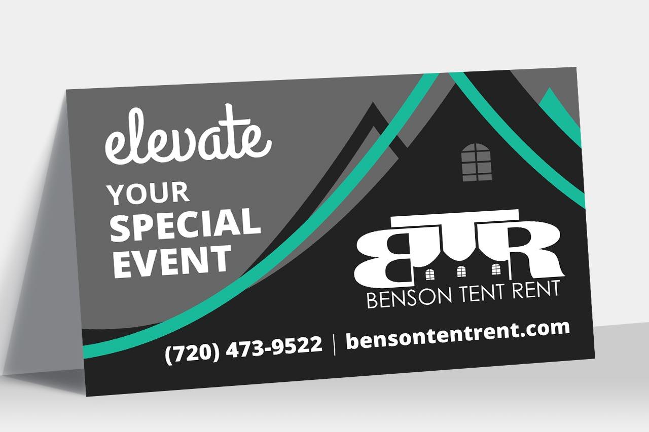 Benson Tent Rent Display Banner