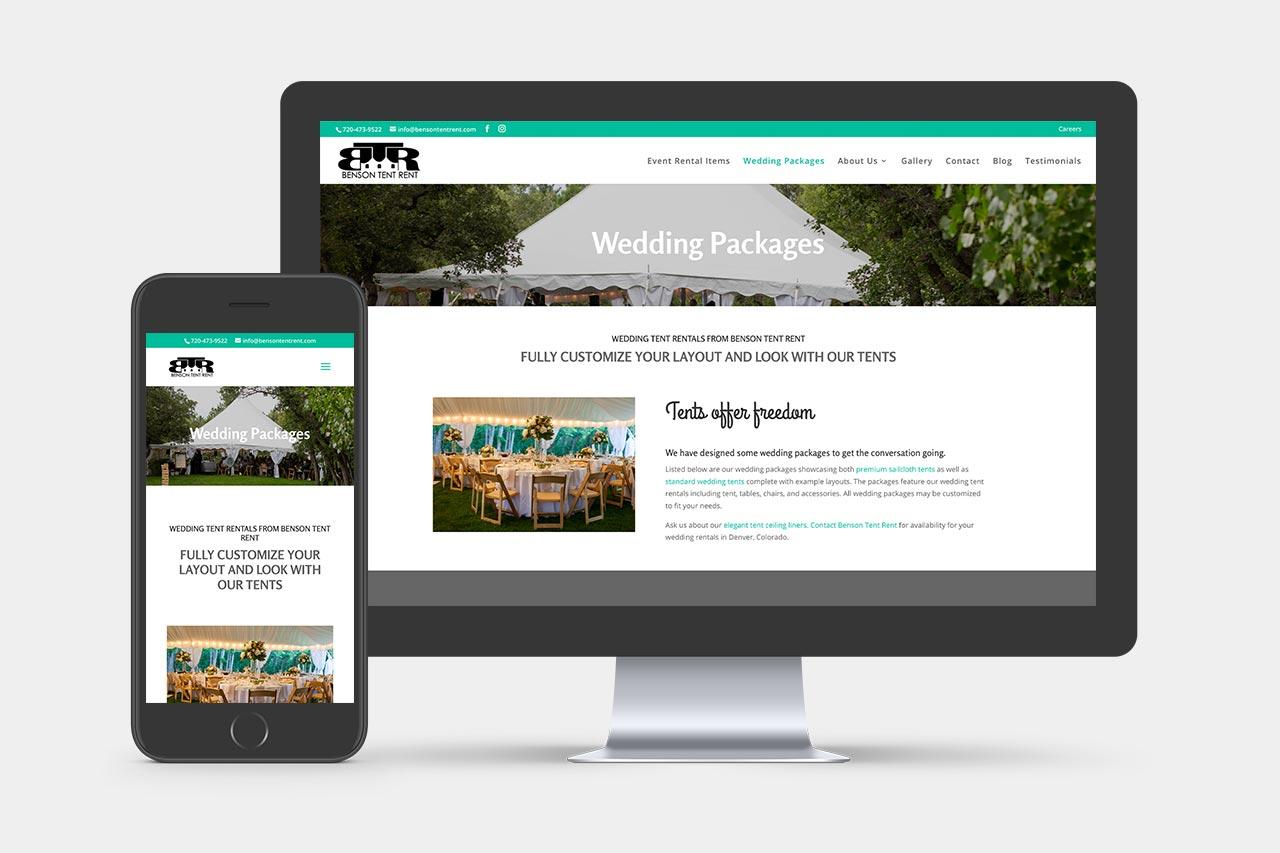 Benson Tent Rent Website