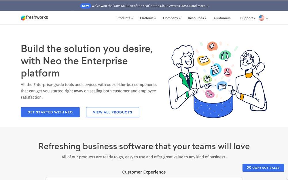 Top CRM Picks - Freshworks - Customer Relationship Management