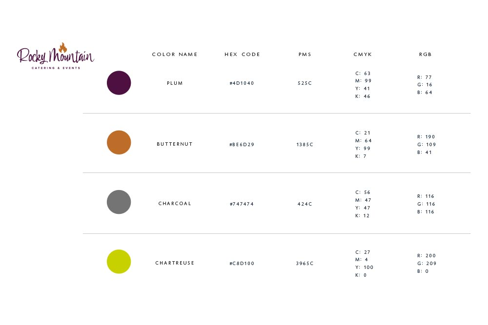 Rocky Mountain Catering Color