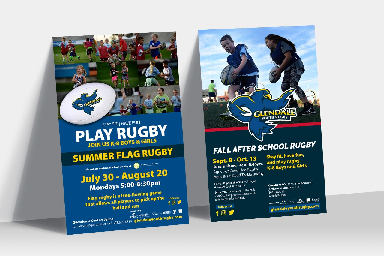 Glendale Youth Rugby Ads